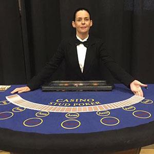Glasgow Fun Casino Stud Poker Table